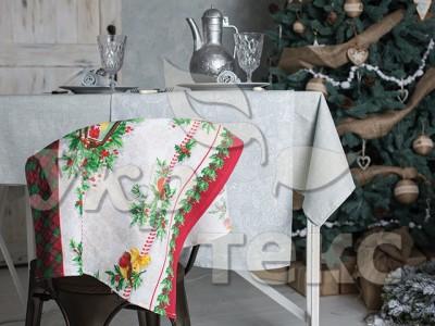 Купить кухонное полотенце  вафельное 5387-1 Новогодние рисунки 100% хлопок 50х70  оптом и в розницу с доставкой по Украине