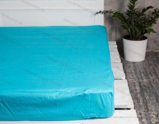 Простынь на резинке бязь г/к Blue atol