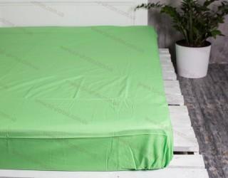 Простынь на резинке бязь г/к Summer green