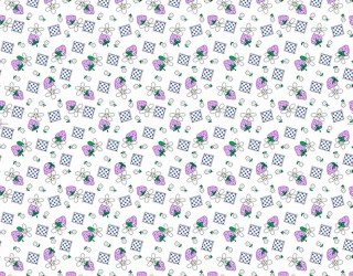 Фланель набивная б/з диз: 10-0152 violet