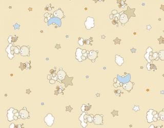 Бязь набивная диз: 10-0214 beige
