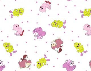 Фланель набивная б/з диз: 10-0238 pink