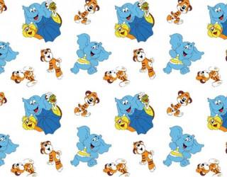 Фланель набивная б/з диз: 10-0241 blue