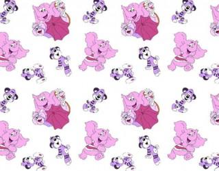 Фланель набивная б/з диз: 10-0241 pink