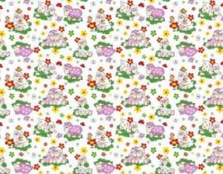 Фланель набивная б/з диз: 10-0281 Pink