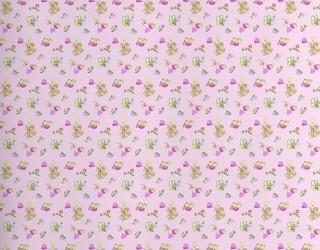 Фланель набивная б/з Ш-220 см. диз: 10-0349 pink