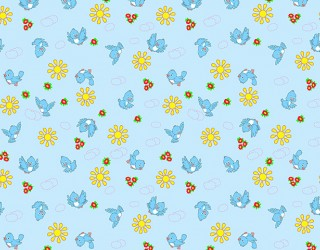 Фланель набивная б/з Ш-180 см. диз: 10-0387 blue
