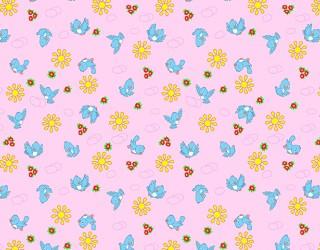 Фланель набивная б/з Ш-180 см. диз: 10-0387 pink