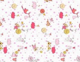 Фланель набивная б/з диз: 10-0528 Pink