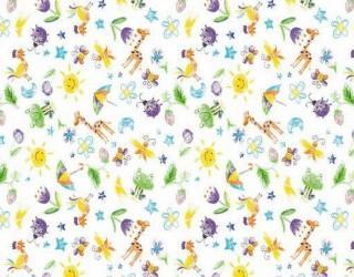 Фланель набивная б/з диз: 10-0529 Violet