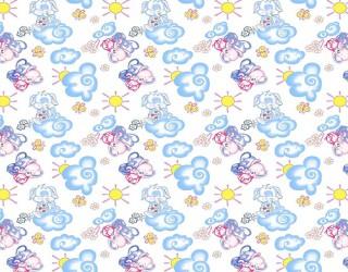 Фланель набивная б/з диз: 10-0139 blue