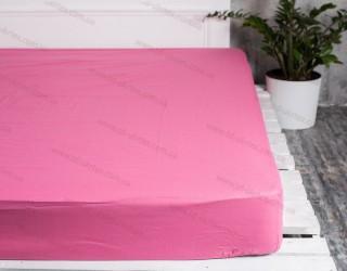 Простынь на резинке бязь г/к 125 Розово-лиловый