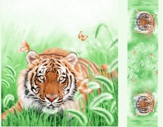 Сатин-панно диз: Tiger (A/B)