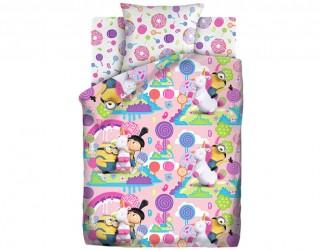Комплект постельного белья бязь диз: 16145-1/16146-1 Радужный мир