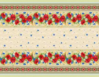 Рогожка диз: 18752-1 Красные маки