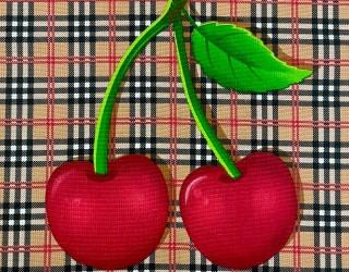 Полотно вафельное набивное диз: 29029-1 Cherry