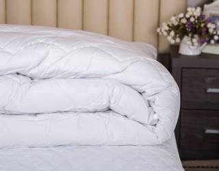 Одеяло полисатин optic white