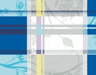 Бязь набивная диз: 30-0247 blue