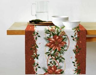 Ткань скатертная столовая диз: 30028-1 Новогодняя дорожка