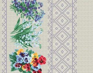 Рогожка диз: 30117-1 Лесные цветы