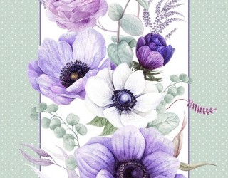 Полотно вафельное набивное диз: 30143-1 Виолет