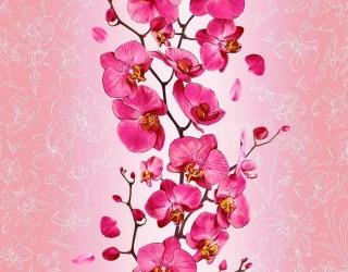 Полотно вафельное набивное диз: 35067-1 Орхидея