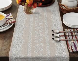 Ткань скатертная столовая диз: 35073-4 Верба