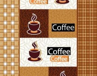 Полотно вафельное набивное диз: 4985-1 Кофе