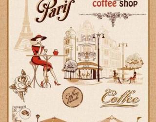 Полотно вафельное набивное диз: 5156-1 Париж