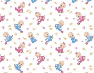 Ситец белоземельный набивной диз: 5516-1 Малыши