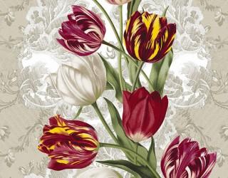 Полотно вафельное набивное диз: 5550-1 Королевский тюльпан
