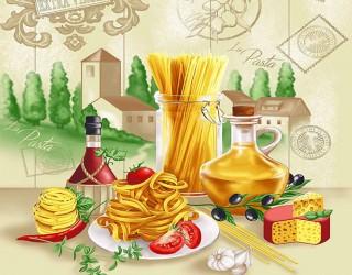 Полотно вафельное набивное диз: 5641-1 Италия