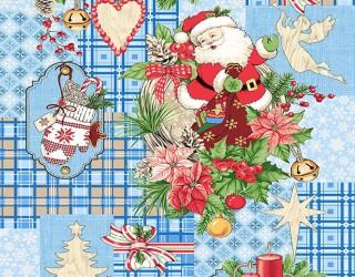 Полотно вафельное набивное диз: 5642-1 Дед Мороз