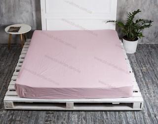 Простынь на резинке бязь г/к 612 Пудрово-розовый