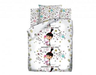 Комплект постельного белья бязь диз: 8885/8886-1 Агнес с единорогом