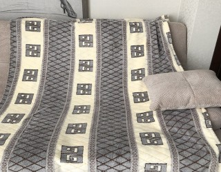 Покрывало well soft диз: SP-06 Орнамент на светлых полосах