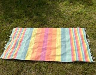 Полотенце-покрывало пляжное Радуга