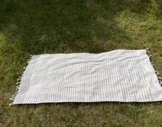 Полотенце-покрывало пляжное gray полоска