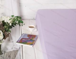 Простынь на резинке бязь г/к Soft Lilac